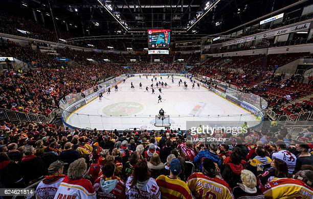 General view of the arena prior to the DEL match between Duesseldorfer EG and Koelner Haie at ISS Dome on November 20 2016 in Duesseldorf Germany