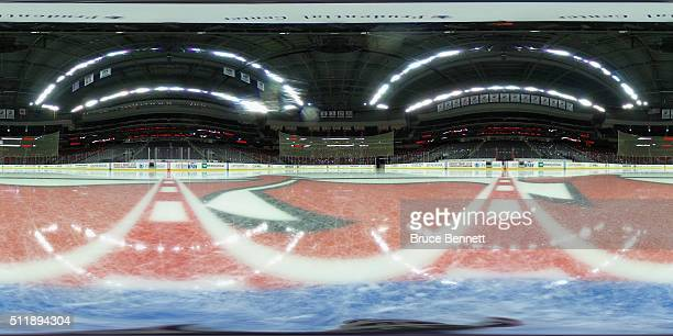 A general view of the arena prior to the game between the New Jersey Devils and the New York Rangers at the Prudential Center on February 23 2016 in...