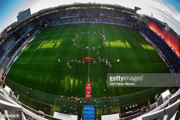 General view of the arena prior to the the Allsvenskan match between IFK Goteborg and AIK at Gamla Ullevi on August 10 2017 in Gothenburg Sweden