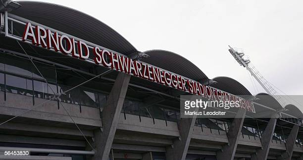 A general view of the ArnoldSchwarzeneggerStadium is seen December 19 2005 in Graz Austria Parts of the city council of Graz are planning to rename...