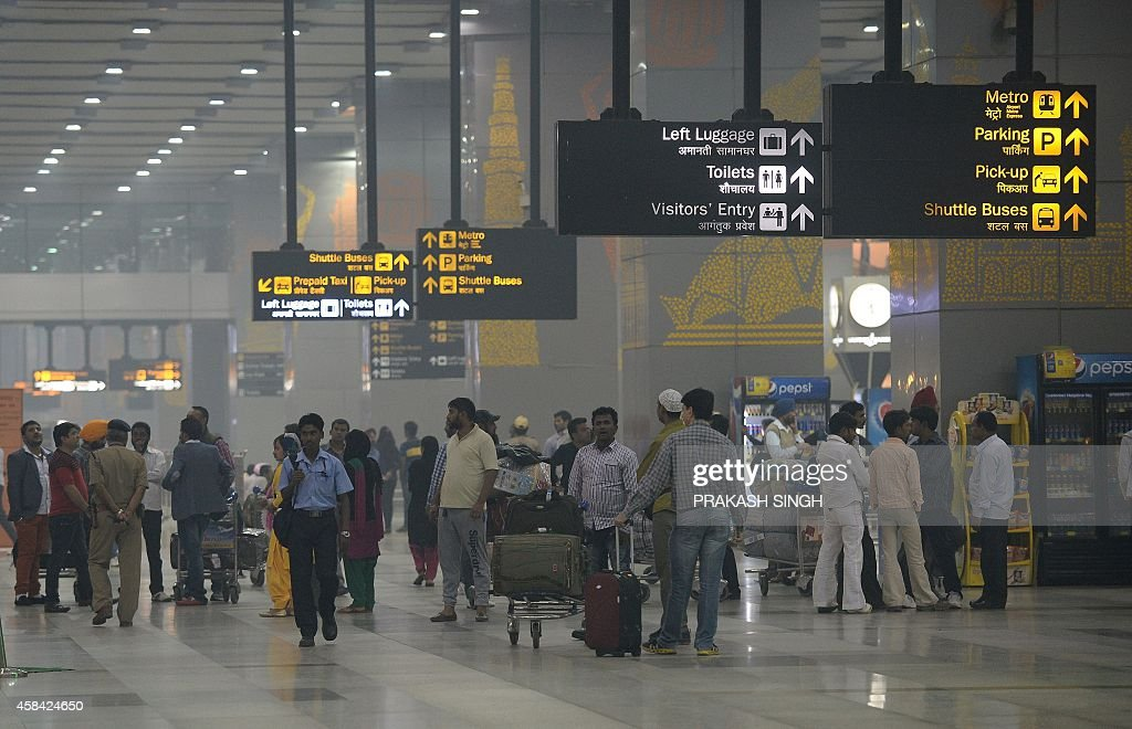 A general view of the arrival hall at Terminal 3 of Indira Gandhi International airport in New Delhi on November 5 2014 AFP PHOTO/ Prakash SINGH