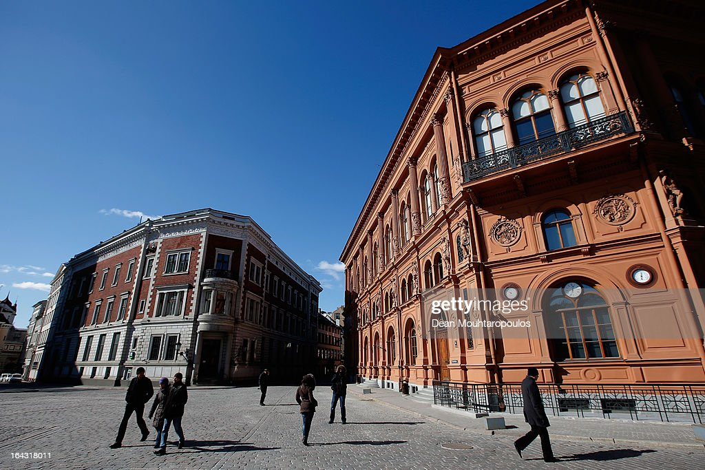 A general view of The Art Museum 'Riga Bourse' in Dome Square on March 22, 2013 in Riga, Latvia.