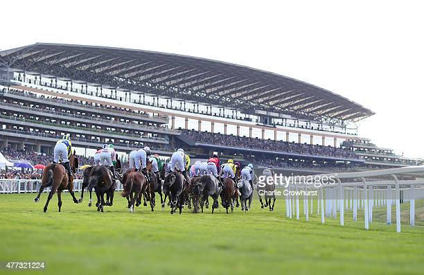 General view of The Ascot Stakes race during Royal Ascot 2015 at Ascot racecourse on June 16 2015 in Ascot England