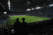 General view of the Astana Arena before the EURO 2012 group A qualifier match between Kazakhstan and Germany on October 12 2010 in Astana Kazakhstan