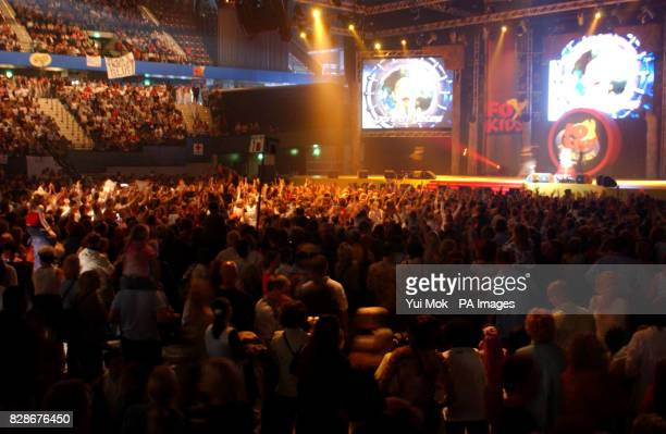 A general view of the atage and audience at the Fox Kids Planet Live pop concert held at the Ahoy in Rotterdam Netherlands