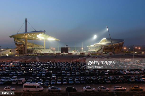 A general view of the Ataturk Olympic Stadium during the Turkish Cup Final between Galatasaray and Fenerbahce May 11 2005 in Istanbul Turkey