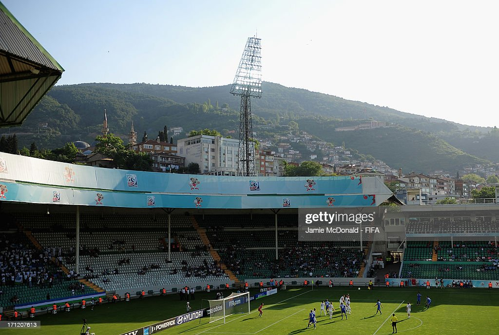 A general view of the Ataturk Stadium during the FIFA U-20 World Cup Group F match between New Zealand and Uzbekistan at the Ataturk Stadium on June 23, 2013 in Bursa, Turkey.