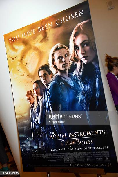 General view of the atmopshere at 'The Mortal Instruments City of Bones' press line during ComicCon International 2013 at the Hilton San Diego...