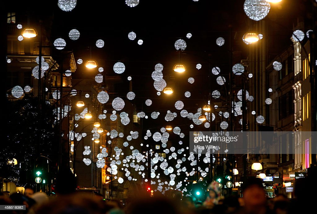 general view of the atmopshere at the world famous oxford street christmas lights switch on event - Christmas Lights Store