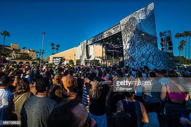 A general view of the atmosphere and the fans during the 2015 KAABOO Del Mar at the Del Mar Fairgorunds on September 19 2015 in Del Mar California