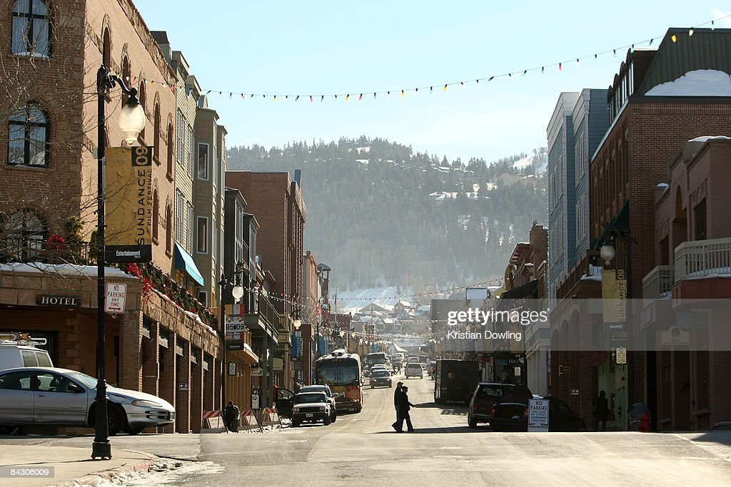 A general view of the atmosphere around the 2009 Sundance Film Festival on January 15 2009 in Park City Utah