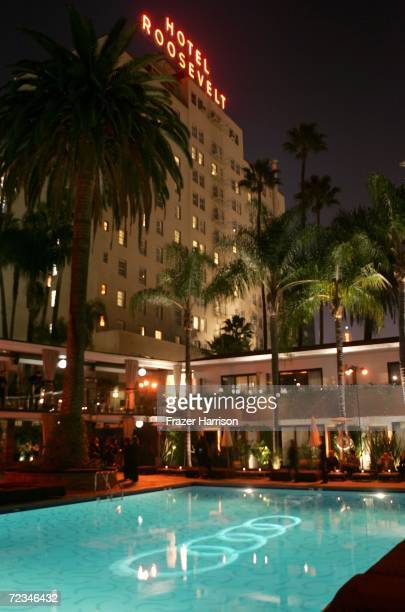 General view of the atmosphere around the pool at the AFI FEST presented by Audi opening night gala of 'Bobby' after party held at The Hollywood...