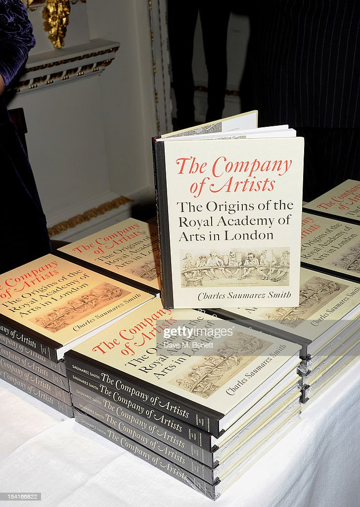 A general view of the atmosphere as Charles Saumarez Smith, Chief Executive of the Royal Academy of Arts, launches his new book 'The Company Of Artists: The Origins Of The Royal Academy Of Arts In London' at The Royal Academy of Arts on October 15, 2012 in London, England.