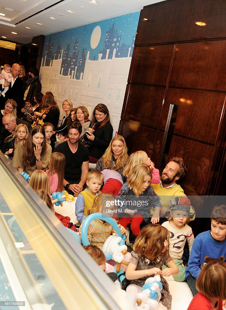 A general view of the atmosphere as Joely Richardson officially opens the Tiffany & Co. Christmas Shop on Bond Street, London on November 24, 2013 in London, England.