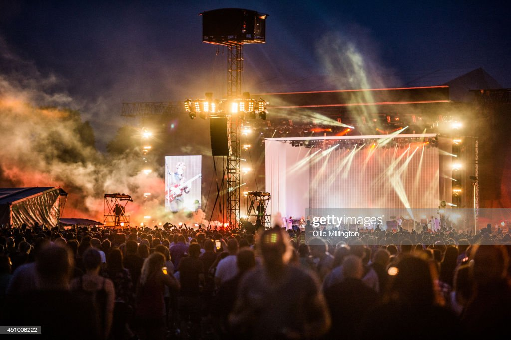 General view of the atmosphere as Kasabian perform on stage during a special one off hometown show the week their fifth album 4813 entered the UK...