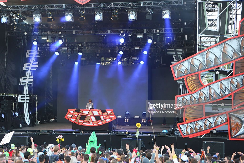 A general view of the atmosphere as <a gi-track='captionPersonalityLinkClicked' href=/galleries/search?phrase=Madeon&family=editorial&specificpeople=9131513 ng-click='$event.stopPropagation()'>Madeon</a> performs at Mysteryland USA, an electronic music and arts festival hosted at Bethel Woods Art Center on May 23, 2015 in Bethel, New York.