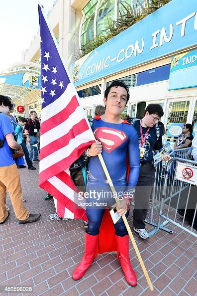 A general view of the atmosphere as San Diego prepares for Comic Con on July 23 2014 in San Diego California
