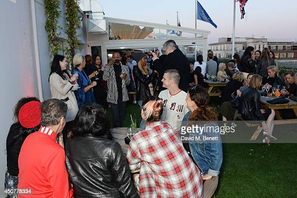 A general view of the atmosphere at a party hosted by SIBLING LOVE on the rooftop of Selfridges in celebration of LCM at Selfridges on June 17 2014...