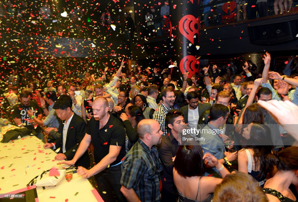 A general view of the atmosphere at a private party celebrating CES 2014 hosted by iHeartRadio featuring a live performance by Krewella at Haze Nightclub at the Aria Resort & Casino at CityCenter on January 8, 2014 in Las Vegas, Nevada.