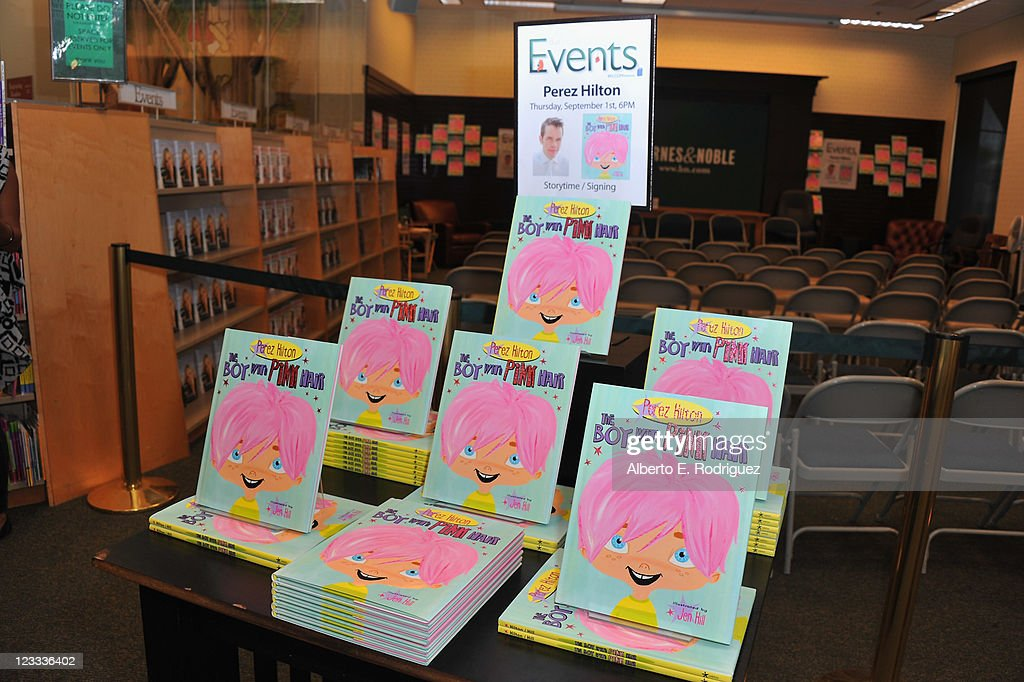 A general view of the atmosphere at a signing for blogger <a gi-track='captionPersonalityLinkClicked' href=/galleries/search?phrase=Perez+Hilton&family=editorial&specificpeople=598309 ng-click='$event.stopPropagation()'>Perez Hilton</a>'s new book 'The Boy With Pink Hair' at Barnes & Noble at The Grove on September 1, 2011 in Los Angeles, California.