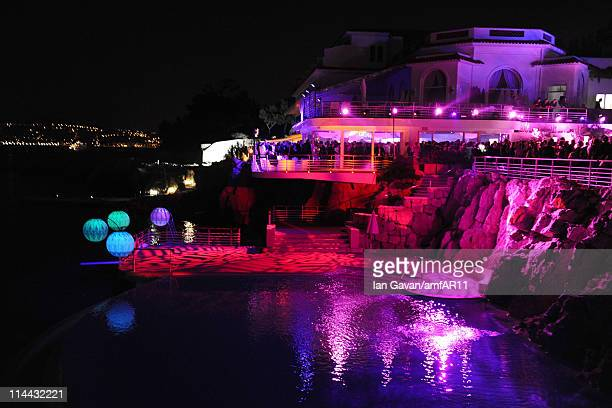 General view of the atmosphere at amfAR's Cinema Against AIDS Gala after party during the 64th Annual Cannes Film Festival at Hotel Du Cap on May 19...