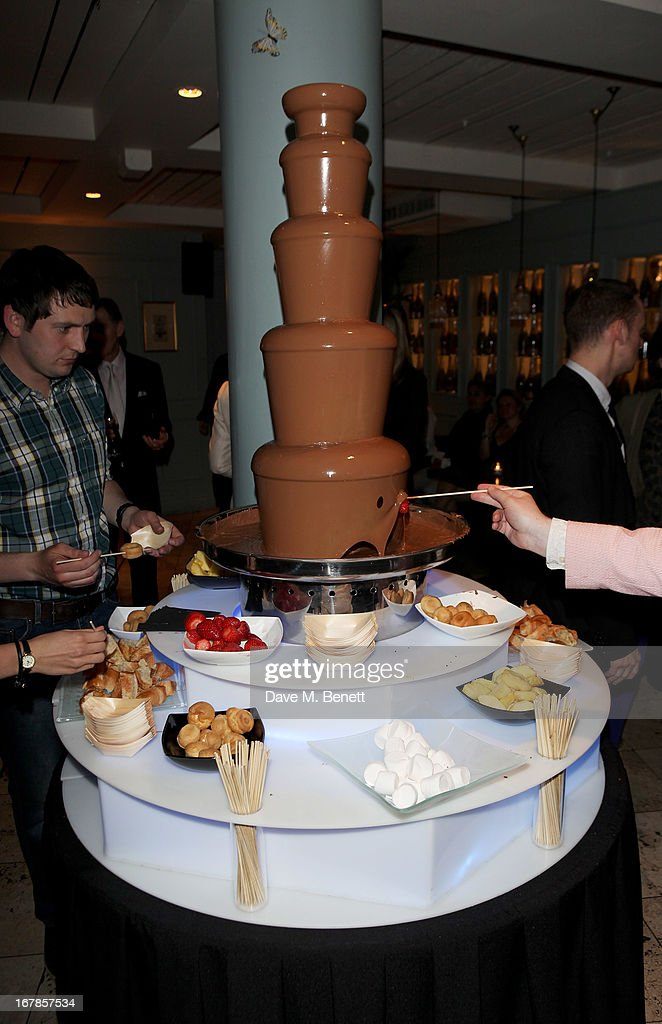 A general view of the atmosphere at an after party celebrating the press night performance of the Menier Chocolate Factory's 'Merrily We Roll Along', following its transfer to the Harold Pinter Theatre, at Grace Restaurant on May 1, 2013 in London, England.