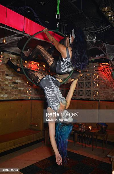 A general view of the atmosphere at 'Death Of A Geisha' hosted by Fran Cutler and Cafe KaiZen with Grey Goose on October 31 2014 in London England