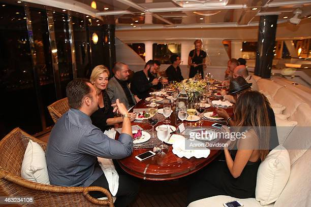 A general view of the atmosphere at Haute Time Celebrates The Opening Of ECJ Luxe Flagship Store With a 'Haute Collectors' Dinner Party Aboard...