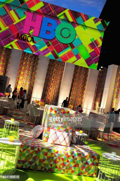 General view of the atmosphere at HBO's Official 2014 Emmy After Party at The Plaza at the Pacific Design Center on August 25 2014 in Los Angeles...