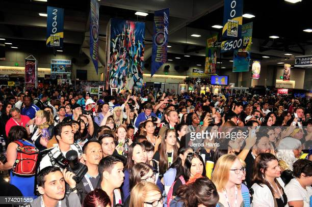 A general view of the atmosphere at Marvel's 'Thor The Dark World' Autograph Signing ComicCon International 2013 on July 21 2013 in San Diego...