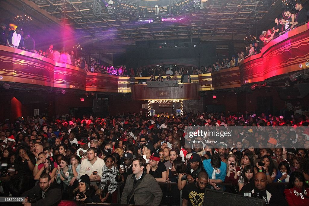 A general view of the atmosphere at Nicki Minaj's Christmas Extravaganza at Webster Hall on December 25, 2012 in New York City.