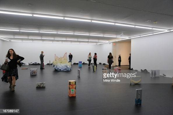 A general view of the atmosphere at Preview of the exhibition Urs Fischer opening April 21August 19 2013 at MOCA Grand Avenue and The Geffen...