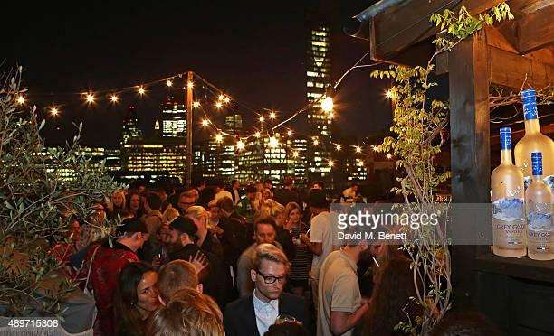 A general view of the atmosphere at Shoreditch House for the British Fashion Council NEWGEN MEN SS16 winners ceremony hosted by Grey Goose and Soho...