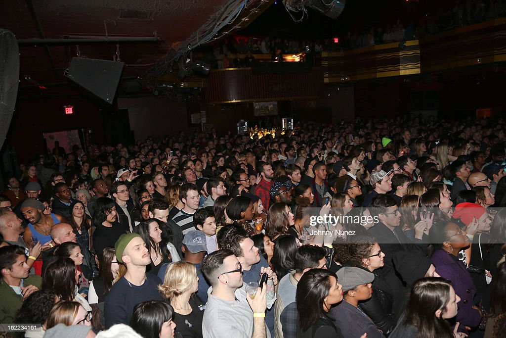 A general view of the atmosphere at Solange Knowles in Concert on February 20, 2013 in New York, United States.