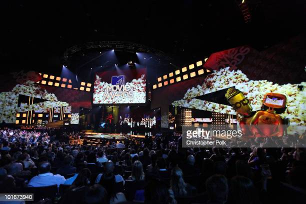 General view of the atmosphere at the 2010 MTV Movie Awards held at the Gibson Amphitheatre at Universal Studios on June 6 2010 in Universal City...