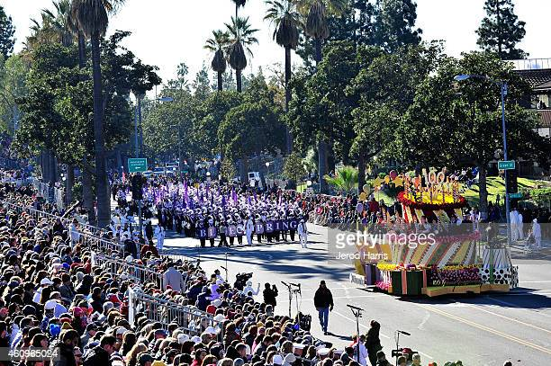 A general view of the atmosphere at the 2015 Tournament Of Roses Parade on January 1 2015 in Pasadena California