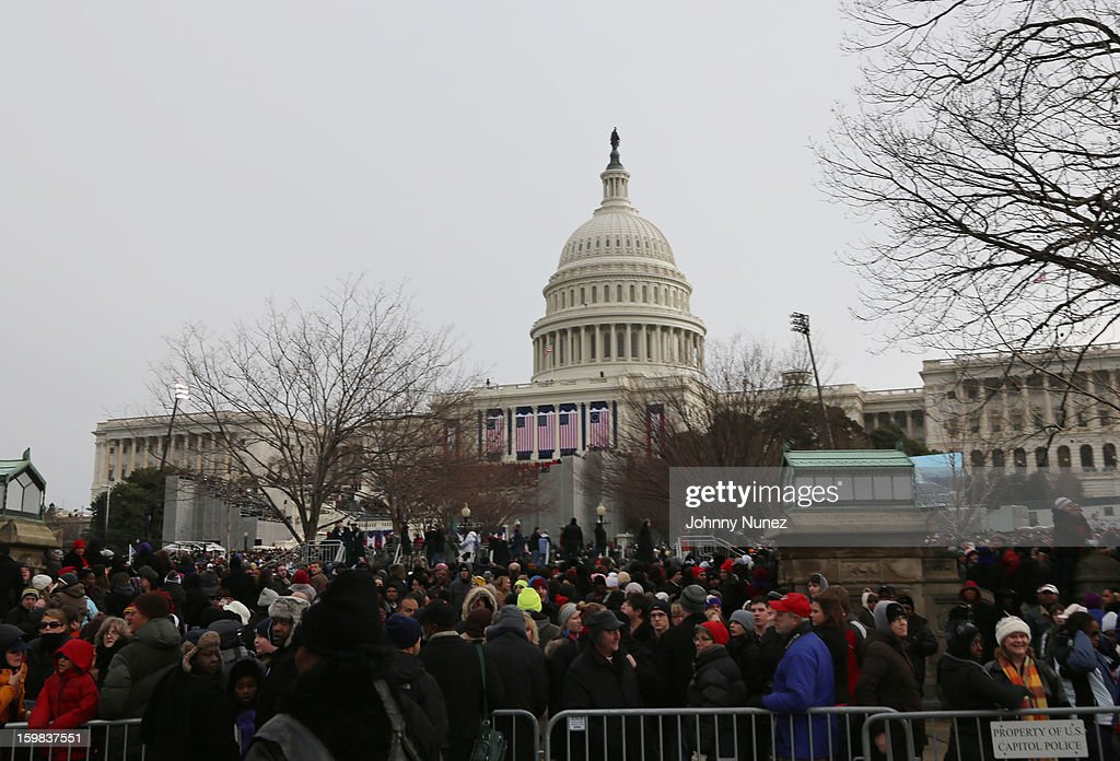 A general view of the atmosphere at the 57th Presidential Inauguration at on January 21, 2013 in Washington, United States.