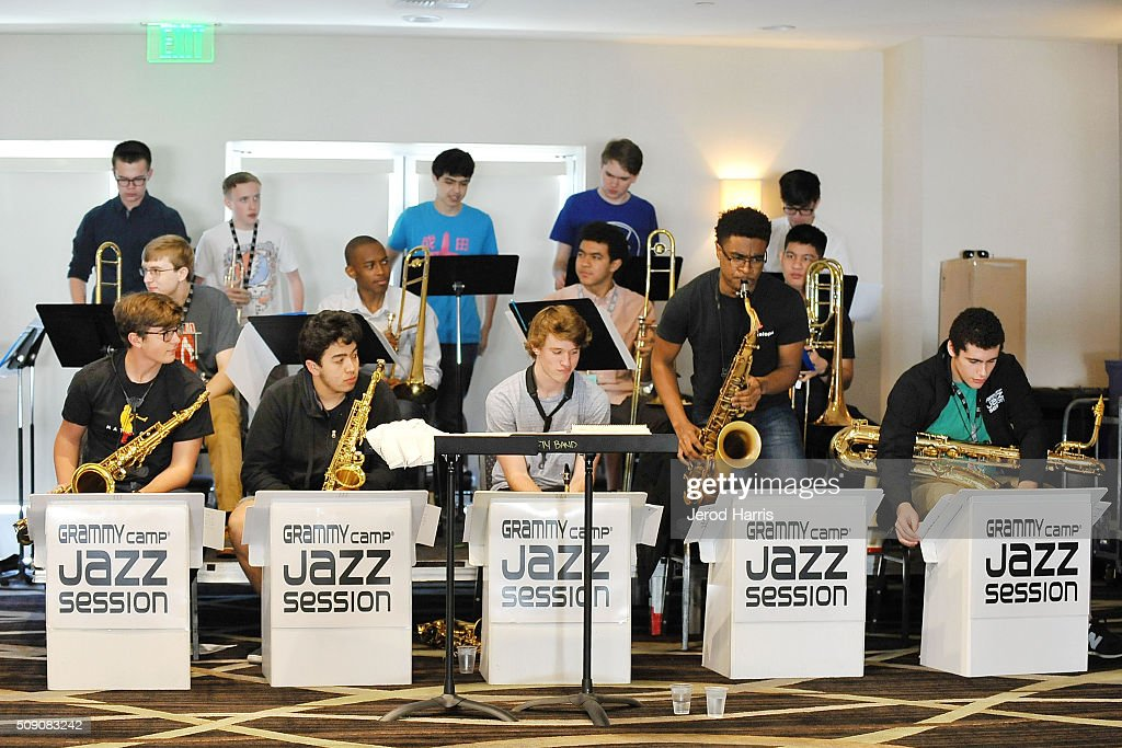 A general view of the atmosphere at the 58th GRAMMY Awards - GRAMMY Camp - Jazz Session Rehearsals on February 8, 2016 in Marina del Rey, California.