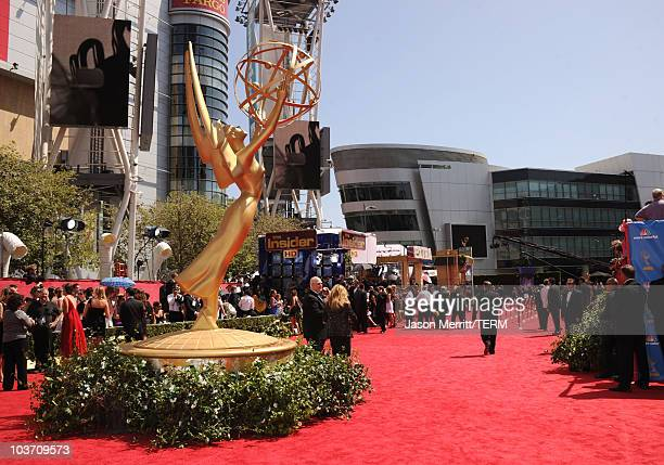 General view of the atmosphere at the 62nd Annual Primetime Emmy Awards held at the Nokia Theatre LA Live on August 29 2010 in Los Angeles California