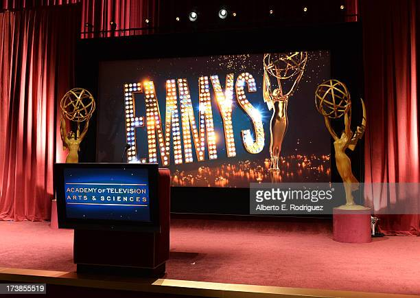 General view of the atmosphere at the 65th Primetime Emmy Awards nominations at the Television Academy's Leonard H Goldenson Theatre on July 18 2013...