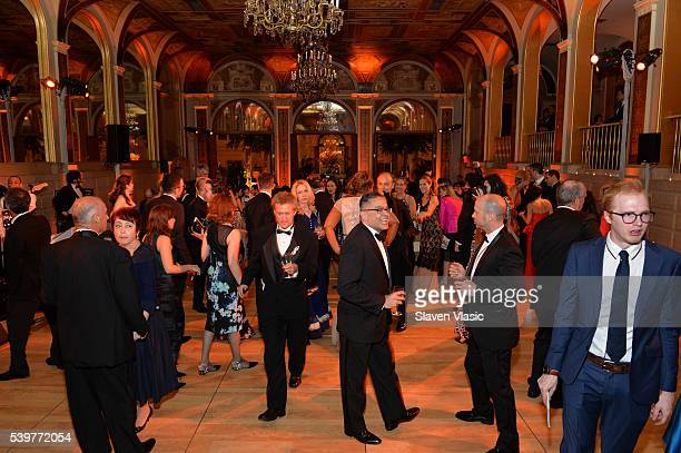 General view of the atmosphere at the after party for the 2016 Tony Awards Gala presented by Porsche at the Plaza Hotel on June 12 2016 in New York...