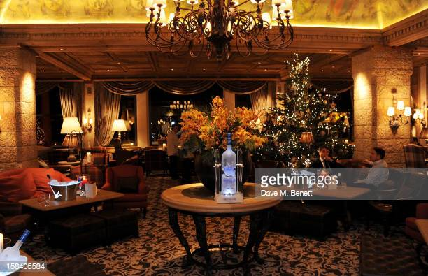 A general view of the atmosphere at the ASMALLWORLD Gala Dinner for the Alzheimer's Society at The Gstaad Palace Hotel on December 15 2012 in Gstaad...