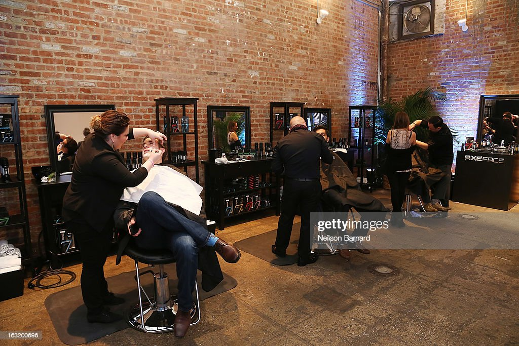 General view of the atmosphere at the AXE Facescore event at Drive-In Studio on March 5, 2013 in New York City.