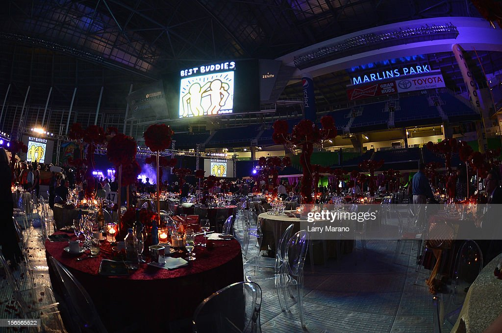 A general view of the atmosphere at the Best Buddies Bash Featuring Far East Movement and SkyBlu of LMFAO at Marlins Park on November 16, 2012 in Miami, Florida.