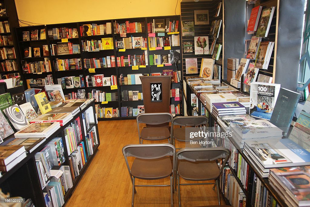A general view of the atmosphere at the book signing for Author <a gi-track='captionPersonalityLinkClicked' href=/galleries/search?phrase=Julia+Sweeney&family=editorial&specificpeople=1534157 ng-click='$event.stopPropagation()'>Julia Sweeney</a>'s new book 'If It's Not One Thing, It's Your Mother' at Book Soup on April 8, 2013 in West Hollywood, California.