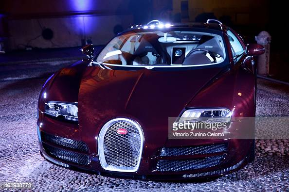 A general view of the atmosphere at the Bugatti and L'Uomo Vogue 'The magic of la vie en bleu' Collection party as a part of Milan Fashion Week...