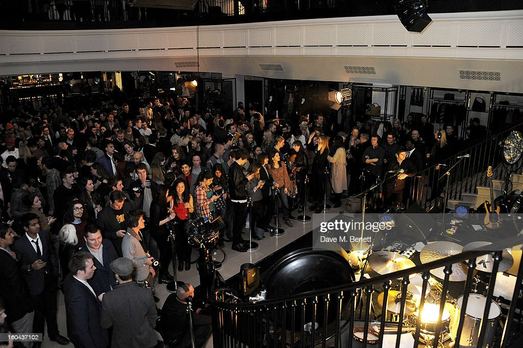 A general view of the atmosphere at the Burberry Live at 121 Regent Street event on January 31, 2013 in London, England.