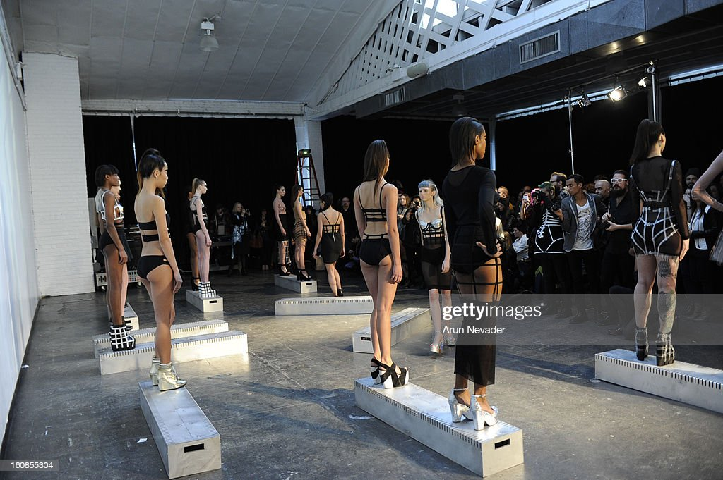 A general view of the atmosphere at the Chromat Fall 2013 Presentation during Mercedes-Benz Fashion Week at Industria Superstudio on February 6, 2013 in New York City.