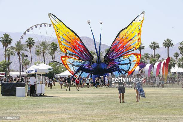 A general view of the atmosphere at the Coachella Valley Music and Arts Festival at The Empire Polo Club on April 12 2015 in Indio California