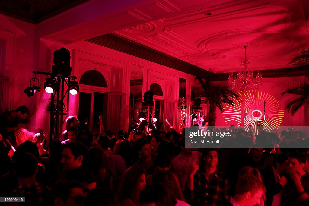 A general view of the atmosphere at the Cuckoo Club and Show Pony pop up club, celebrating Cuckoo's 7th birthday, at 6 Grosvenor Place on November 24, 2012 in London, England.